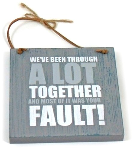 Heartwarmers 1 Piece Wood Wooden Fun Quotes On Life Keepsake Gift