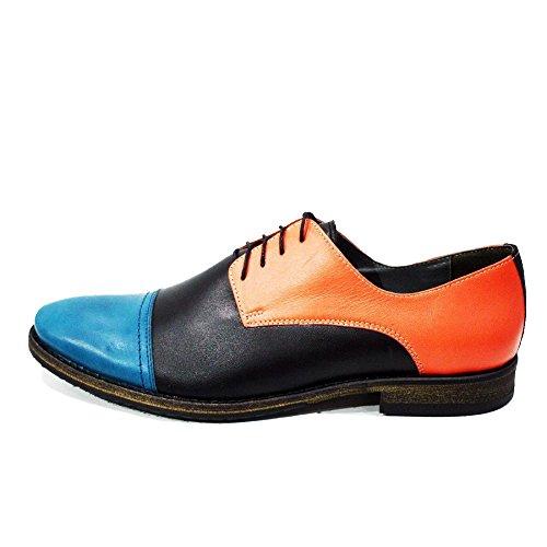 Modello Pretorio - Cuero Italiano Hecho A Mano Hombre Piel Vistoso Zapatos Vestir Oxfords - Cuero Cuero suave - Encaje