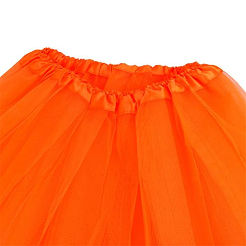 Waist Dress Solid Sale Skirt Dancing Half Mesh Tutu High Hot Orange Adult TIFENNY Womens Pleated mesh Gauze txwdXTwZ