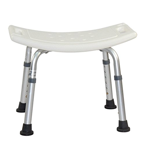 Marketworldcup-Bath Shower Seat Chair Bench Stool Adjustable Height Anti Slip Aluminum Frame Height Adjustable Heavy Duty