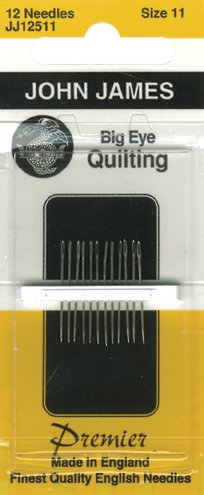(John James Big Eye Quilting Hand Needles-Size 11 12/Pkg)