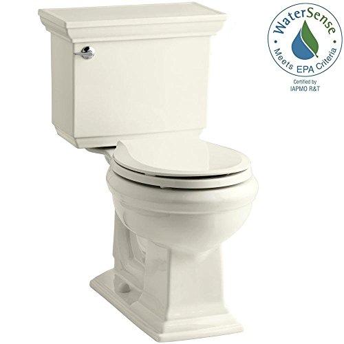 (Kohler Memoirs 1.28 Gpf Two Piece Round Front Toilet Less Seat,)