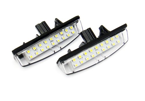 2x LED Licence Number Plate Light White Canbus For CT200h ES GS IS LS RX Avensis Verso Camry Prius Venza