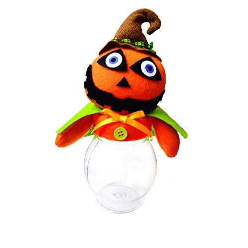 C-Future Halloween Candy Jars,Pumpkin Ghost Shape Candy Box&Biscuits,Chocolate,Etc Storage Tank(Medium) ()