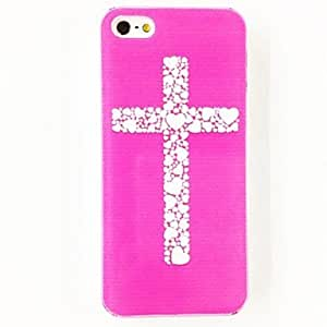 LZXPink Love Cross Pattern Polycarbonate Hard Case for iPhone 4/4S , Multicolor