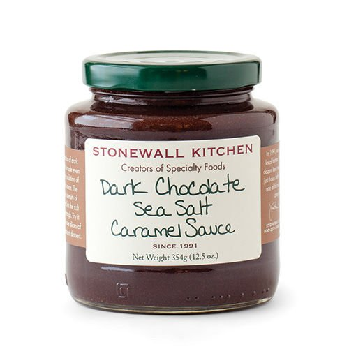Stonewall Kitchen Sauce, Dark Chocolate Sea Salt Caramel, 12.5 ounce made in New England
