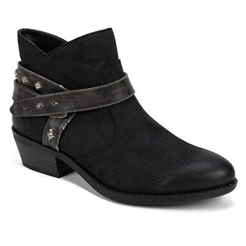 WHITE MOUNTAIN Women's Sandy Ankle Boot, Black/Sueded/Fabric, 10 M US ()