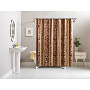 Better homes and gardens traditional damask shower curtain home kitchen for Better homes and gardens shower curtains
