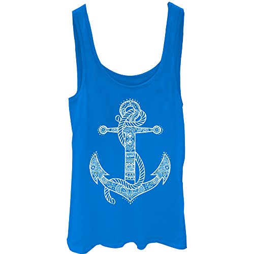 Lost Gods Henna Anchor Juniors S Graphic Tank Top