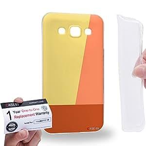 Case88 [Samsung Galaxy E5] Gel TPU Carcasa/Funda & Tarjeta de garantía - Art Ivory Colour Blocking Art1839