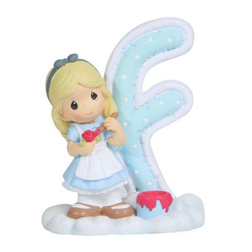 Precious Moments Alphabet Letter - Precious Moments, Disney Showcase Collection, Alphabet Letter F, Resin Figurine, 114450