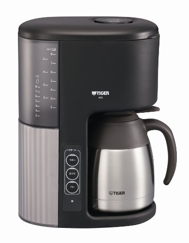 TIGER microcomputer coffee maker vacuum stainless server type cafe black eight glasses for ACE-M080KQ