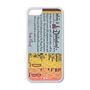 Vintage Disneyland Ticket, Customized Back Cover Case TPU For iphone 5c, Wholesale iphone 5c Cases - YurieStore