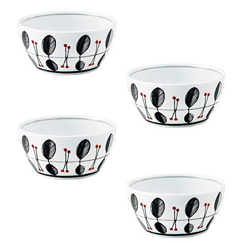 Zen Table Japan Multi-Purpose Bowls Set of 4 Made in Japan - Raspberry