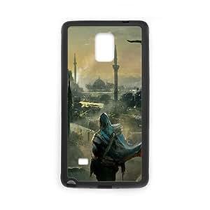 Assassins Creed Desmond Miles Fan Art Birds City Sky Capa Nota caja del teléfono celular 4 19650 Samsung Galaxy funda Negro caja del teléfono celular Funda Cubierta EEECBCAAH72609