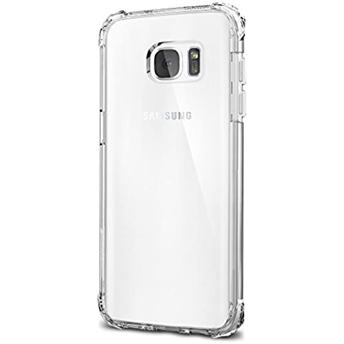Spigen Crystal Shell Galaxy S7 Edge Case with Clear back panel and Reinforced Corners on TPU bumper for Samsung Galaxy S7 Edge 2016 - Clear Crystal Sales