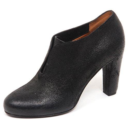 E6874 Shoe Black Nero Tronchetto Scarpe Francesina Roberto Donna del Carlo Woman wrwxS8qP