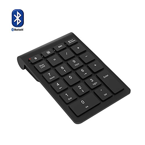 Numeric Number Keypad Keyboard Pad - Bluetooth Number Pad, Rytaki Wireless Bluetooth 22 Keys Multi-Function Numeric Keypad Keyboard Extensions for Laptop/Desktop/PCs/Notebook