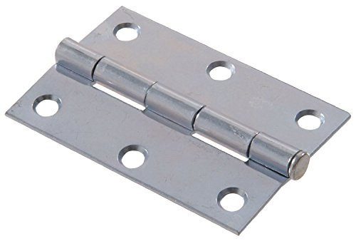 Zinc Pin Hinge - The Hillman Group 851955 2-Inch Light Narrow Hinge with Removable Pin, Zinc Plated (2 Pack)