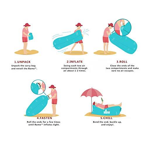 YLDXP Aufblasbares Sofa Premium Air Sofa Durable Fabric Compact Carrying Bag Waterproof Sofa Ideal f/ür Camping oder Beach Day