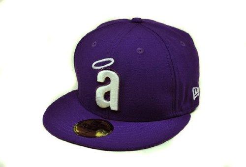 NEW ERA MLB Anaheim Angels Purple 59fifty Fitted Cap (7 1/8) (Purple New Era)