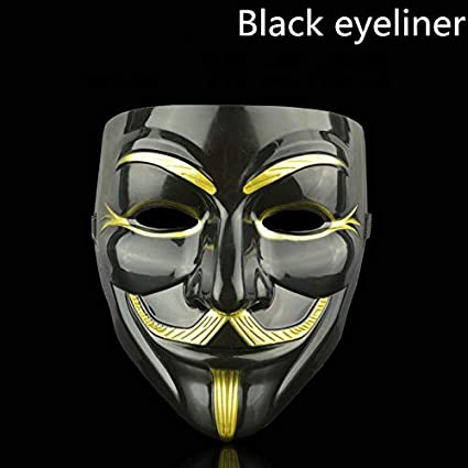 Amazon.com : Style Party Masks Mask Anonymous Guy Fawkes Fancy Adult Costume Accessory Party Cosplay Halloween Masks White : Beauty