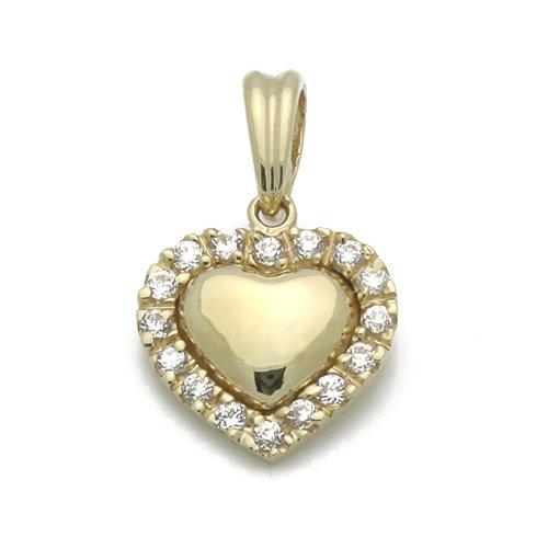 Petits Mrveilles D'amour - pendentif Religieux - Or Jaune 585/1000 (14ct) - Oxyde de Zirconium