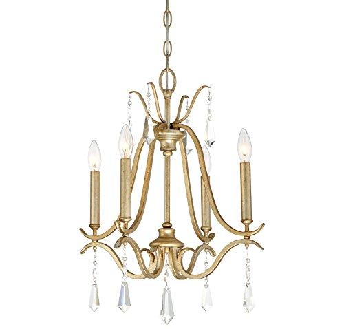 Chandelier Crystal Laurel Gold (Minka Lavery Chandelier Lighting 4444-582 Laurel Estate, 4-Light 240 Watts, Brio Gold)