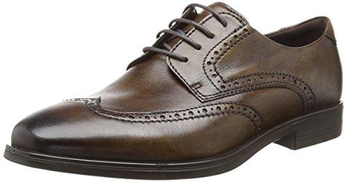 ECCO Men's Melbourne Wingtip Tie Oxford, Cocoa Brown, 44 M EU (10-10.5 - Mens Tie Dress Shoe