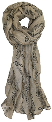 Ted and Jack - Sweet Symphony Allover Music Notes Scarf in Tan