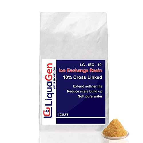 LiquaGen - Ion Exchange Resin Cation for Water Softeners + FREE Resin Loading Funnel (1 CU FT)