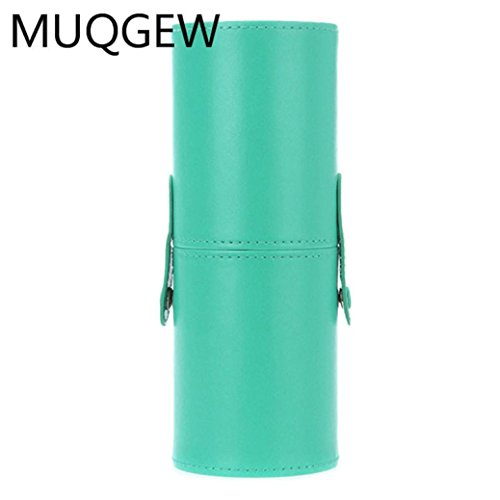 Hot,Yang-Yi Clearance Women Professional PU Pound Makeup Brushes Holder Cosmetic Brush Container Cylinder Vessel (Green, 2.8 (Pounds Container)