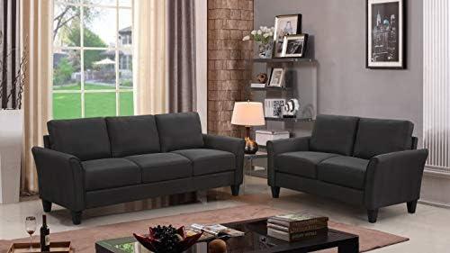 MERITINE Living Room Set of 2, 2 Pcs Livingroom Furniture Set Couch Loveseat