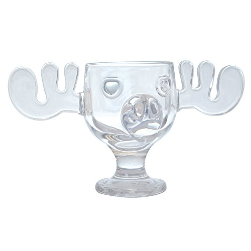 Officially Licensed National Lampoons Christmas Vacation Glass Moose Mug - Set of 2 (Glasses Holiday Drinking)