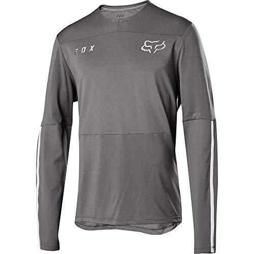 - Fox Racing Flexair Delta Long-Sleeve Jersey - Men's Grey Vintage, M
