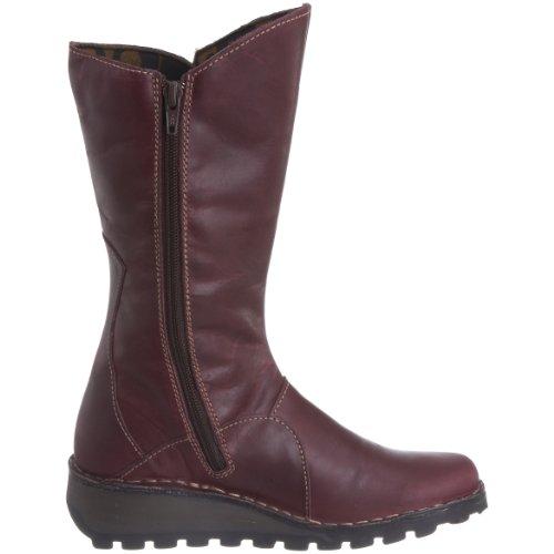 FLY London Mes Leather - Botas de cuero para mujer Morado