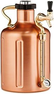 GrowlerWerks Copper uKeg Carbonated Growler, 128 oz