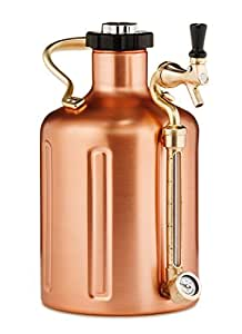 GrowlerWerks uKeg 128 CU uKeg 128 Pressurized Growler for Craft Beer - Copper