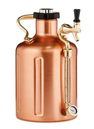 Pressurized Growler for Craft Beer - Copper