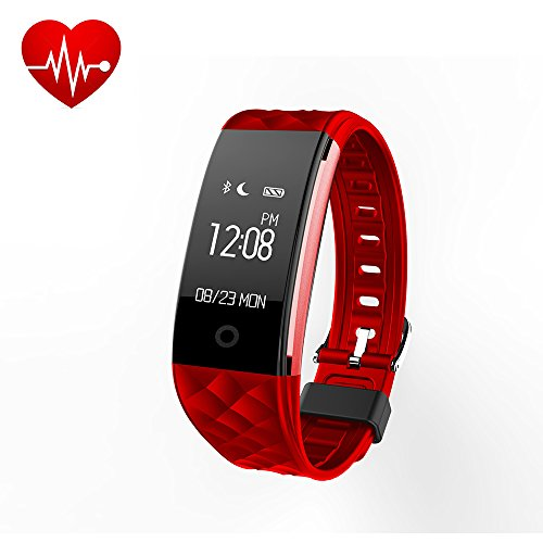 EFOSHM Fitness Tracker Heart Rate, Activiy Tracker,Smart Bracelet with Steps/Calorie Counter,Sleep Monitor Smart Watch IP67 Waterproof for Android/IOS (Red) from EFOSHM