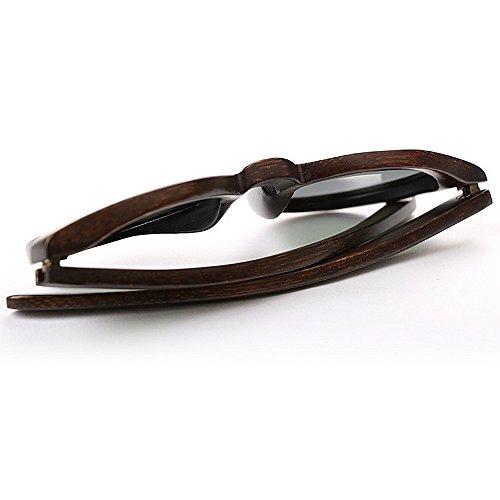 conducción Gafas Gafas mujer bambú Vintage de madera sol hechas las de redondas de espejo de sol de para sol de pl de mujeres sol de Gafas protección la de clásico Gafas polarizadas a la de de UV mano rrF0qAW