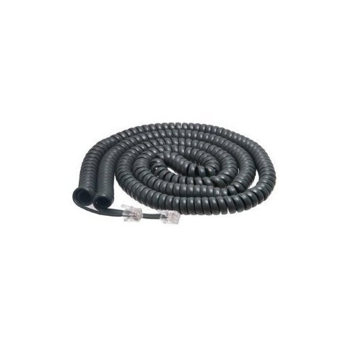 (Cisco Handset Gray Curly Cord 25 Ft Uncoiled / 4 ft Coiled (10 PACK))