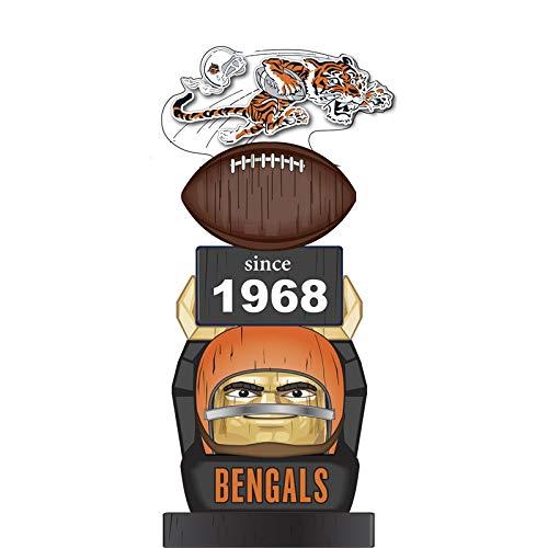 Team Sports America Cincinnati Bengals Vintage NFL Tiki Totem Statue