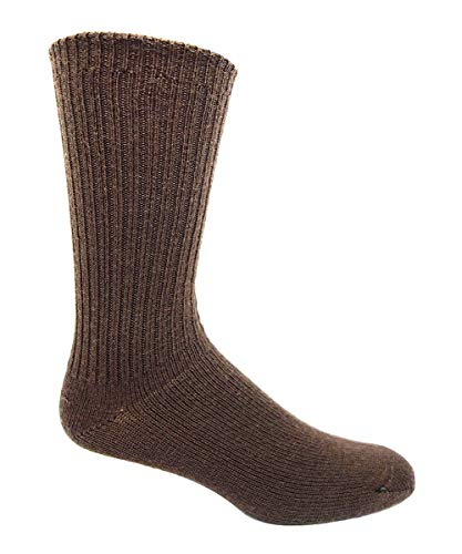 - 96% Merino Wool Non-binding Casual Socks (3 Pairs) (X-Large (13-16 Shoe), Lt. Brown)