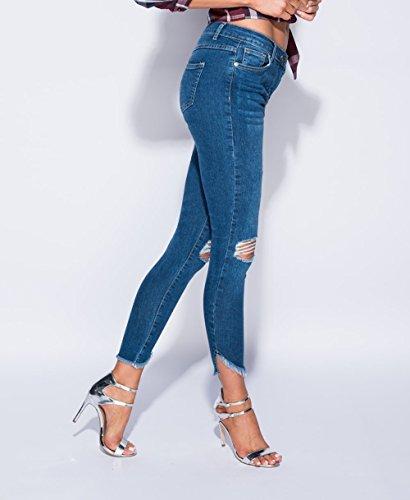 Momo Fashions amp;Ayat Vaqueros Azul mujer para qZFw0q