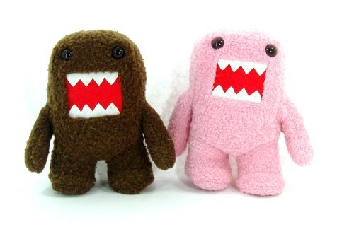 "Licensed 2 Domo Kun PINK & BROWN 6.5"" Plush Figure Doll Set - SMALL"