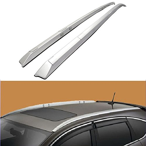 VIOJI 1 Pair Silver Aluminum Mount Onto the Rooftop Roof Rack Top Side Rails Carries Luggage Carrier w/ 78.74