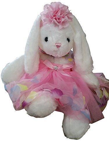 Little Bunny Tutu, Pink Headband, Stuffed Animal Plush Gift Set Fits 12 Months to 2T