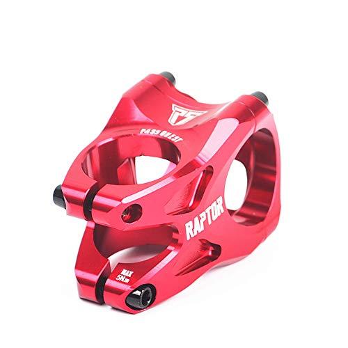 Adjustable Bicycle Stem Raiser, Mountain Bike Stem 28.6 31.8 35mm Aluminum Bike Stem Short Handlebar Stem Riser for Most Bicycle, Road Bike, Mountain Bike (Color : Red)