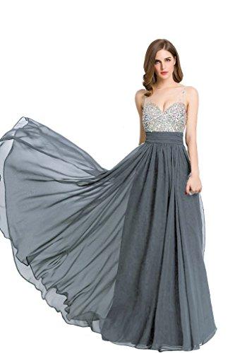 Moda Beauty Donna maniche Vestito Grigio Emily Senza EwE8nr7zBq